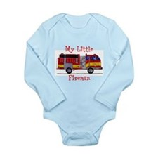 Little Fireman Long Sleeve Infant Bodysuit