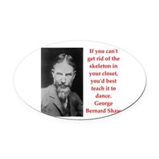 george bernard shaw quote Oval Car Magnet