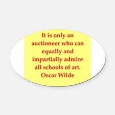 oscar wilde quote Oval Car Magnet