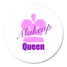 Makeup Queen Round Car Magnet