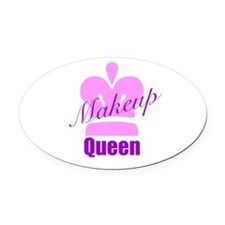 Makeup Queen Oval Car Magnet