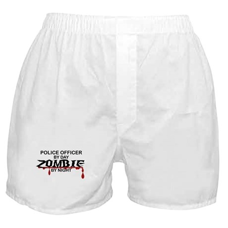 Police Officer Zombie Boxer Shorts