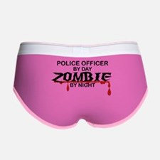 Police Officer Zombie Women's Boy Brief