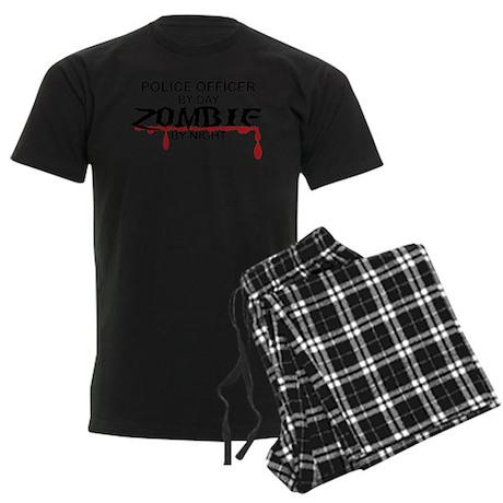 Police Officer Zombie Men's Dark Pajamas