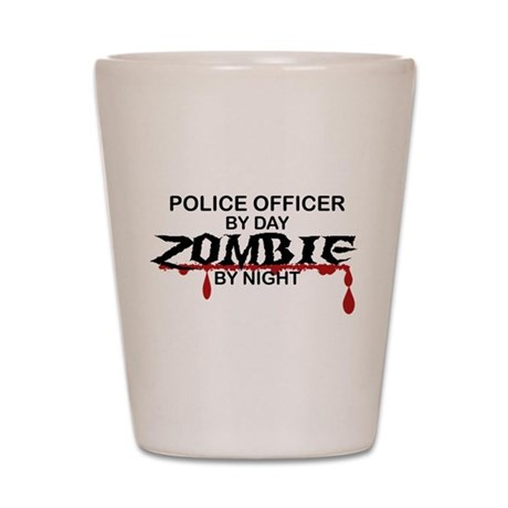 Police Officer Zombie Shot Glass