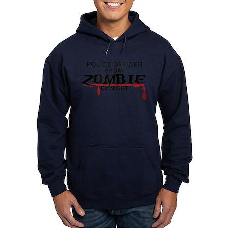 Police Officer Zombie Hoodie (dark)