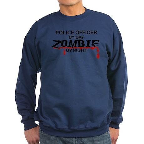 Police Officer Zombie Sweatshirt (dark)