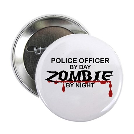 """Police Officer Zombie 2.25"""" Button"""