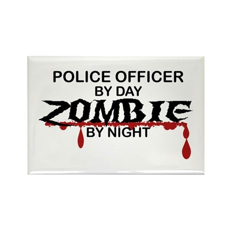 Police Officer Zombie Rectangle Magnet (100 pack)