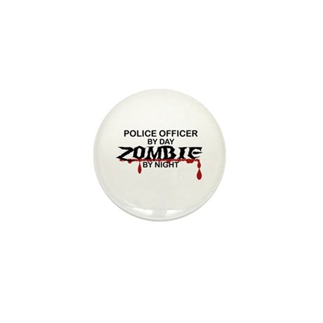 Police Officer Zombie Mini Button (100 pack)