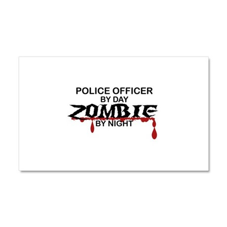 Police Officer Zombie Car Magnet 20 x 12