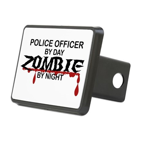 Police Officer Zombie Rectangular Hitch Cover