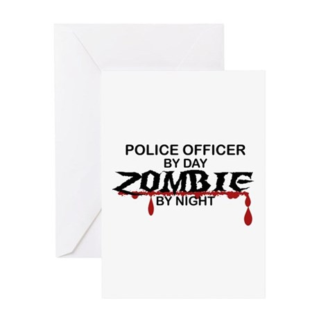 Police Officer Zombie Greeting Card