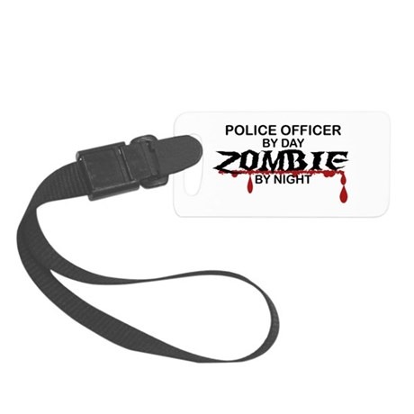 Police Officer Zombie Small Luggage Tag