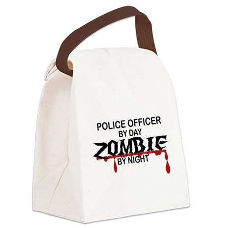 Police Officer Zombie Canvas Lunch Bag