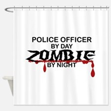 Police Officer Zombie Shower Curtain