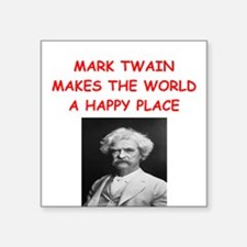 """MARKTWAIN.png Square Sticker 3"""" x 3"""""""