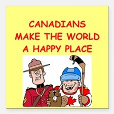 """CANADIAN.png Square Car Magnet 3"""" x 3"""""""