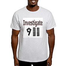 Investigate 911 Ash Grey T-Shirt