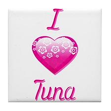 I Love/Heart Tuna Tile Coaster