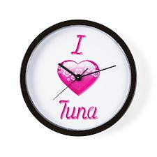 I Love/Heart Tuna Wall Clock