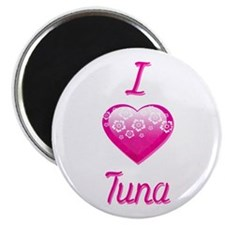 "I Love/Heart Tuna 2.25"" Magnet (10 pack)"