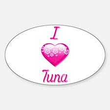 I Love/Heart Tuna Decal