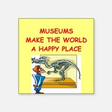 "MUSEUM1.png Square Sticker 3"" x 3"""