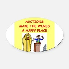 AUCTIONS.png Oval Car Magnet