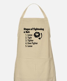 Stages of Tightening a Nut Apron