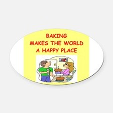 BAKING.png Oval Car Magnet