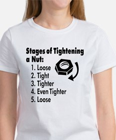 Stages of Tightening a Nut Women's T-Shirt