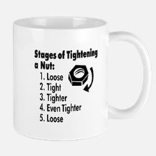 Stages of Tightening a Nut Mug