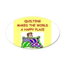 QUILT.png Oval Car Magnet