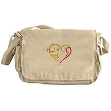 Graffiti Heart Messenger Bag