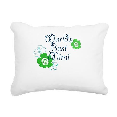 Worlds Best Mimi Rectangular Canvas Pillow