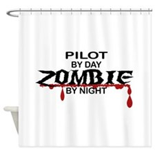 Pilot Zombie Shower Curtain