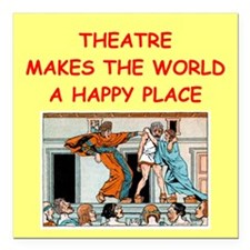 "THEATER.png Square Car Magnet 3"" x 3"""