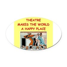 THEATER.png Oval Car Magnet