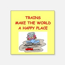 """TRAINS.png Square Sticker 3"""" x 3"""""""
