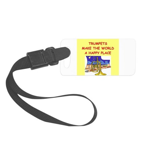 TRUMPETS.png Small Luggage Tag