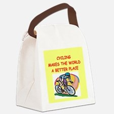 CYCLING.png Canvas Lunch Bag