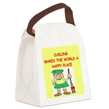 CURLING.png Canvas Lunch Bag