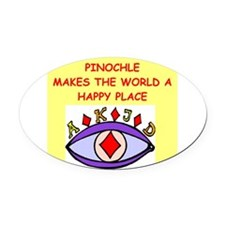 PINOCHLE.png Oval Car Magnet