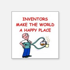 "INVENTOR.png Square Sticker 3"" x 3"""
