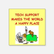 "TECH.png Square Sticker 3"" x 3"""