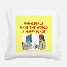 PARALEGAL.png Square Canvas Pillow