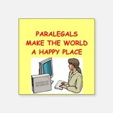 "PARALEGAL.png Square Sticker 3"" x 3"""