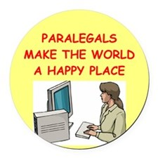 PARALEGAL.png Round Car Magnet
