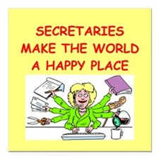 "SECRETARY.png Square Car Magnet 3"" x 3"""